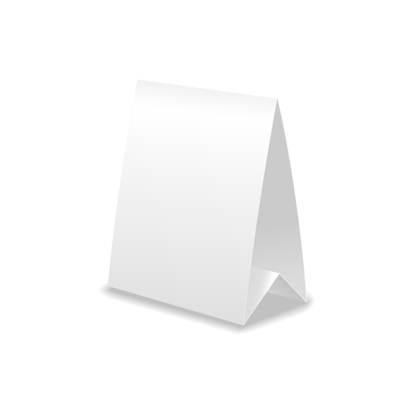 a table: Vector realistic table paper card with shadow isolated