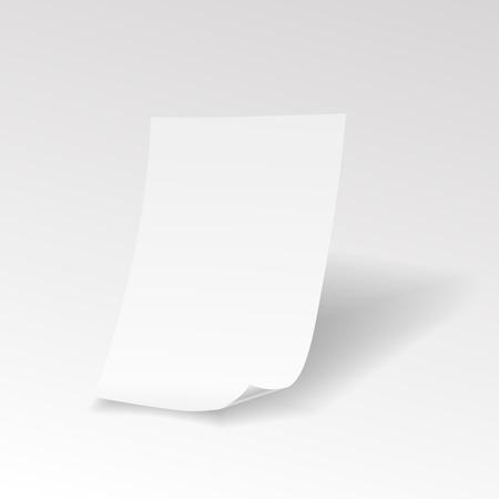 feuille de papier réaliste vide avec Vector boucle Vecteurs