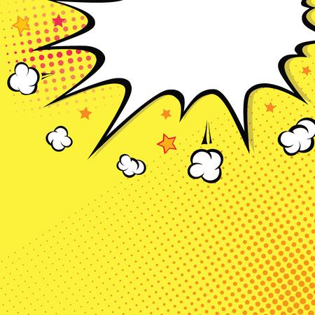 Boom. Esplosione del libro di fumetti sulla parte superiore. sfondo Pop art vettore Vettoriali