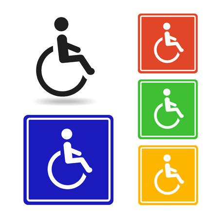 personas discapacitadas: Discapacitados icono - vector. pictograma con discapacidad para el logotipo con el s�mbolo de minusv�lidos