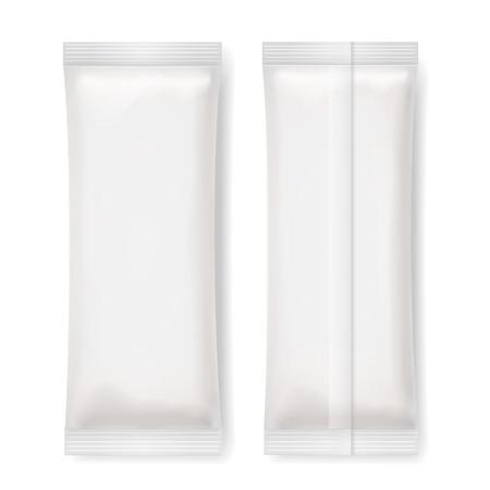 packaging: Set of White Blank Foil Packaging , Vector Illustration Illustration