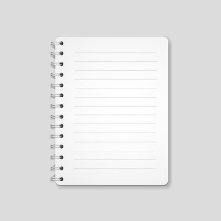 pocketbook: Blank realistic spiral notebook, notepad isolated on white background. illustration Stock Photo