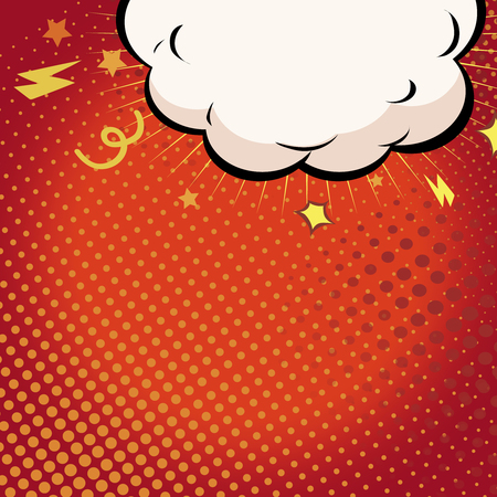 clash: Comic book illustration with explosion on top. Boom on red background illustration