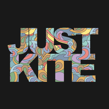 kite surf: Surfer typography, just kite surf t-shirt graphics, s