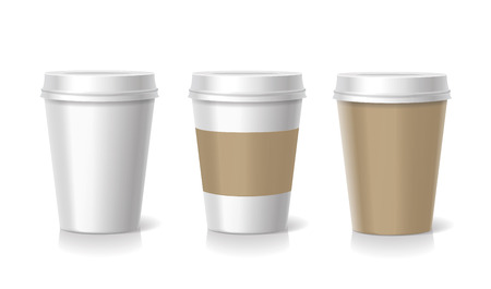 coffee mug: Takeaway coffee cup templates illustration isolated
