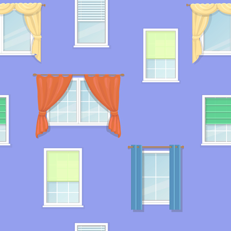casement: windows curtains blind and Jalousie seamless background