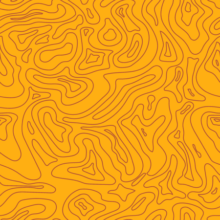 topographic: Topographic Map yellow Seamless Pattern. Relief Background