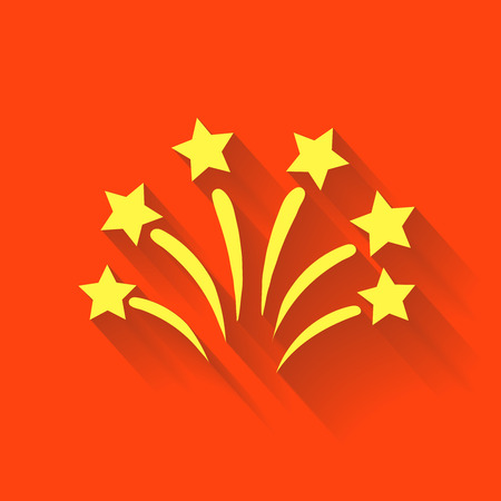 pyrotechnic: Fireworks sign icon. Explosive pyrotechnic show symbol.