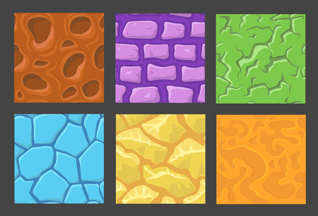 stratum: set of pattern for game background, wall background textures collection for game Illustration