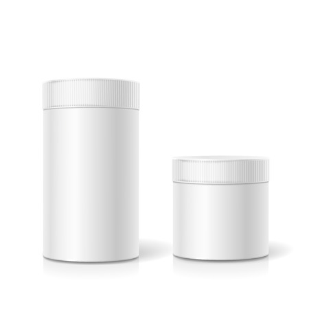 cylindrical: The cylindrical package. Empty white realistic box. isolated