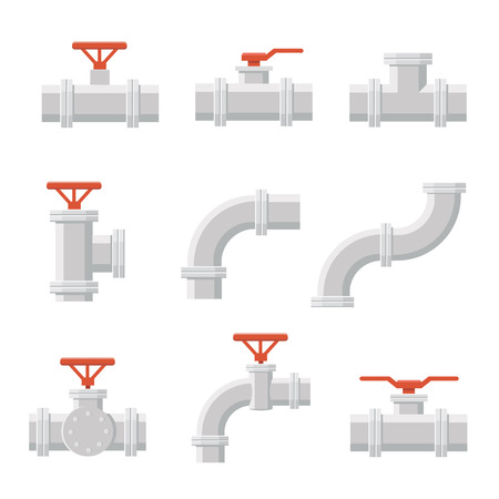 sanitary engineering: Vector icon of pipe connector for plumbing and piping work. Illustration