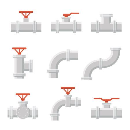 Vector-Symbol von Rohrverbinder für Sanitär- und Rohrleitungsarbeiten. Standard-Bild - 59949635