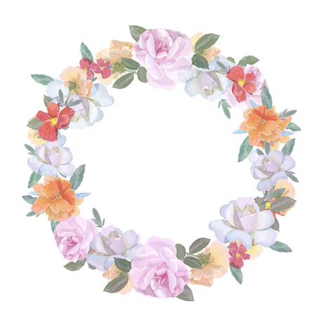 floral objects: wedding flowers vector design frame. rose Colorful floral objects.