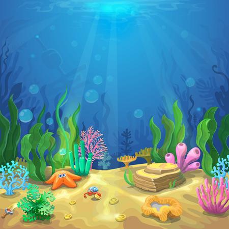 Underwater landscape Ilustração