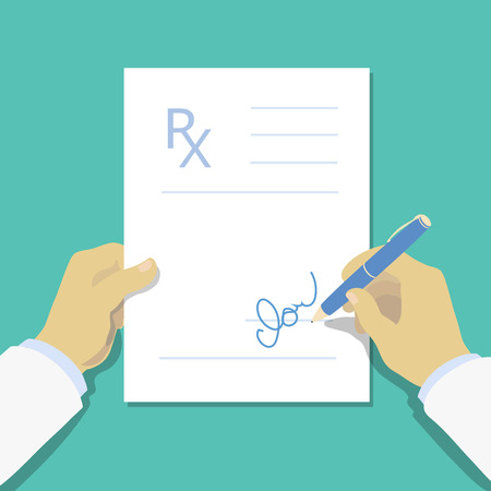 prescription pad: Medical prescription pad flat design style Illustration