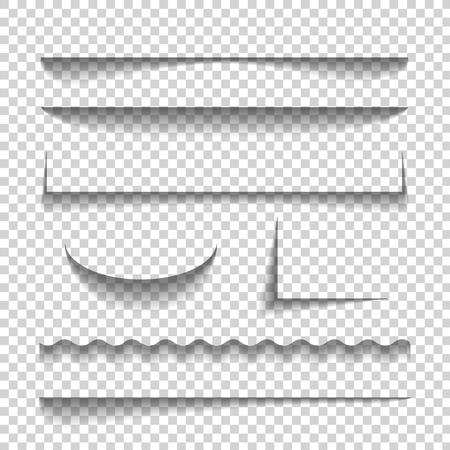 Przezroczysty realistyczny efekt cienia papieru ustawiony. na na jej tle ilustracji