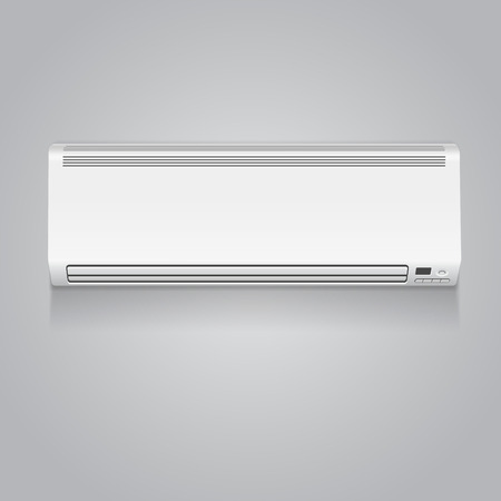 recondition: Realistic white air climate conditioner isolated 3D illustration