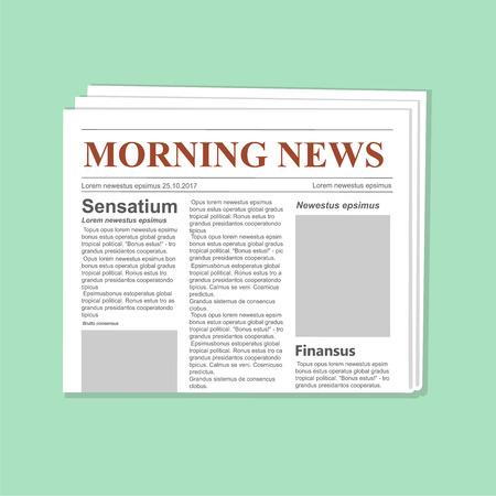 Newspaper journal vector template. Daily paper flat illustration vector Illustration