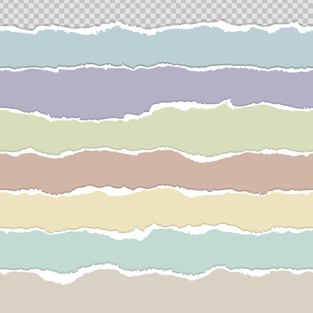 rips: Seamless torn paper edge rips or dividers vector set Illustration