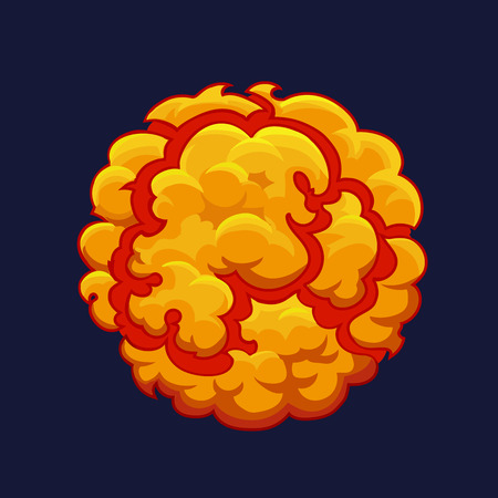 detonation: Smoke cartoon Explode effect. Bang or detonation 2d element