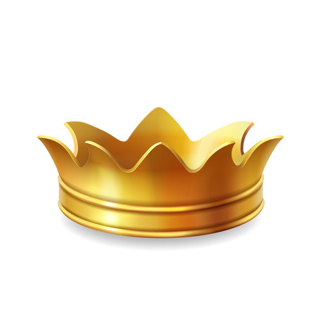Isolated gold crown, vector illustration