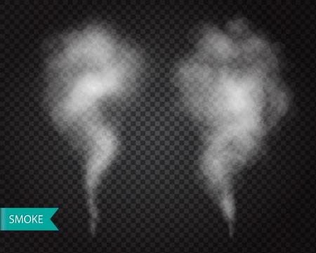 special effect: Smoke fog transparent effect. White cloudiness, mist or smog element Vector illustration