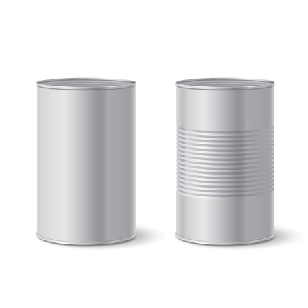 tin: Metallic tin can. Vector illustration