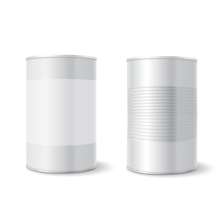 tincan: Metal tin can, Tincan Ribbed Canned food. Mock up. Product Packing