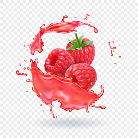 Raspberry juice illustration.