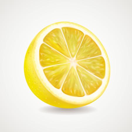 peasant: Lemon fruit realistic illustration.