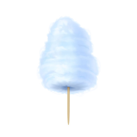 Cotton candy blue. illustration isolated