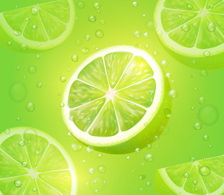 Lime juice green illustration.
