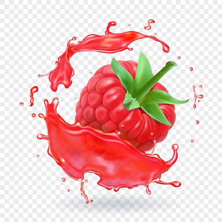 Raspberry in berry juice splash.