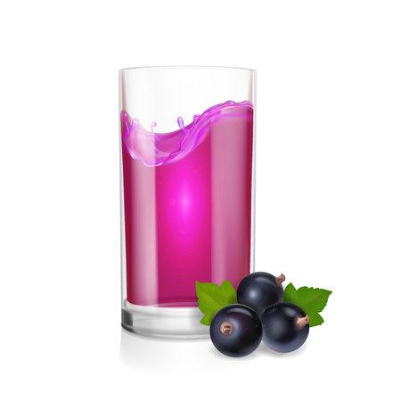 Fesh black currant berry juice