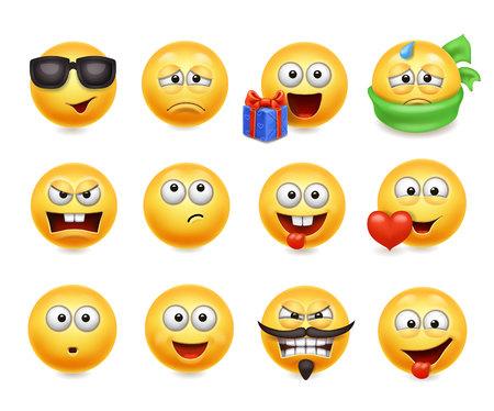 Smileys vector set. Illusztráció