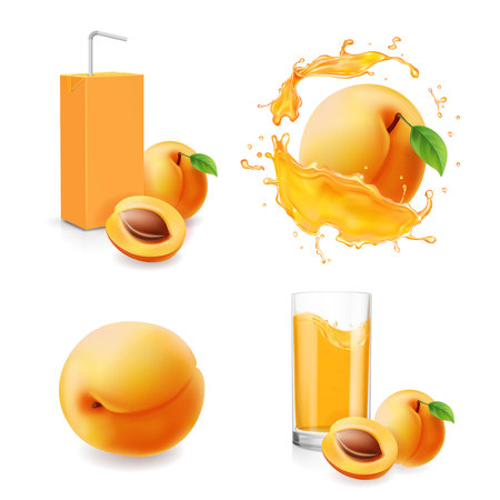 Apricot juice collection in splash