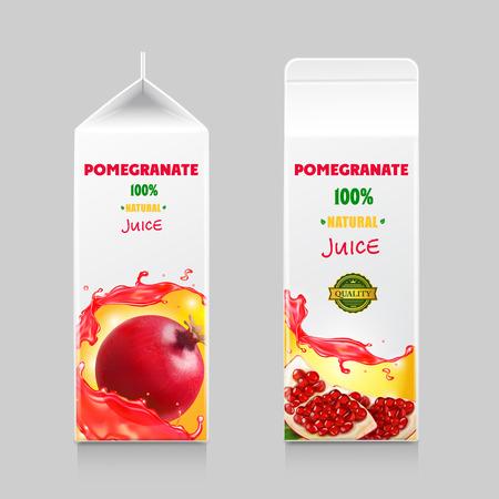 Pomegranate juice cardboard package box design
