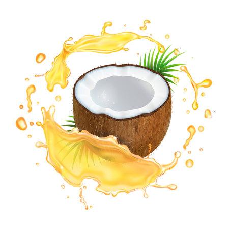 Coco en salpicaduras de aceite.