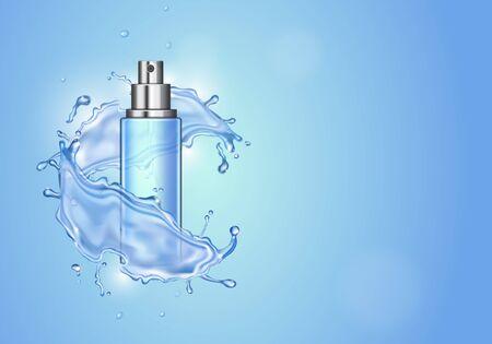 Ice toner ads on blue