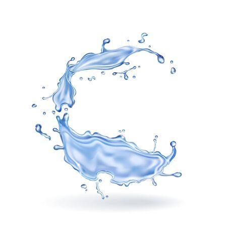 Water splash element realistic Banco de Imagens