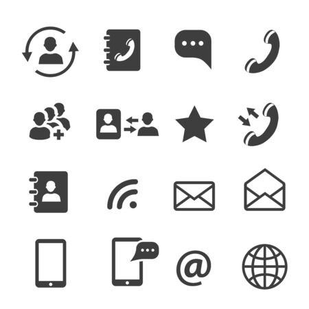 Media and web communication icons set
