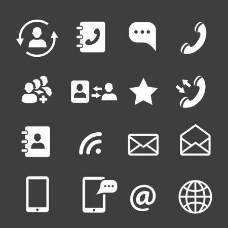 Web coomunication and media icons Çizim
