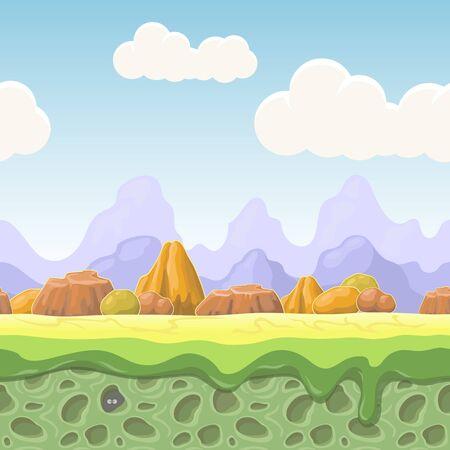 Cartoon fairy tale landscape.