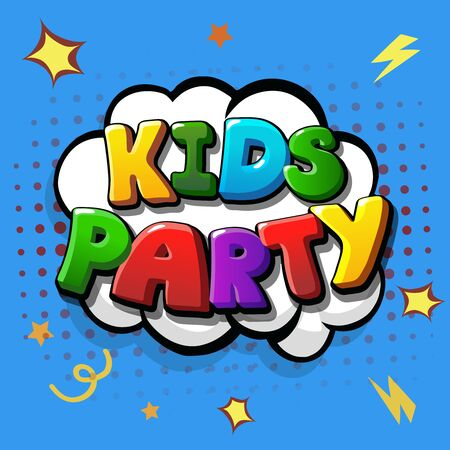 Kids party invitation cartoon design
