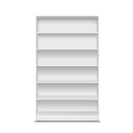 Empty store shelves. Showcase supermarket 3d illustration Reklamní fotografie