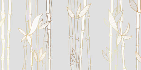 Luxury wallpaper design with Golden bamboo