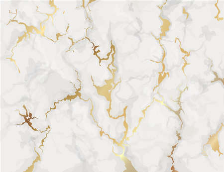 Marble with golden texture background. Marbling wallpaper design for invitations, covers vector illustration