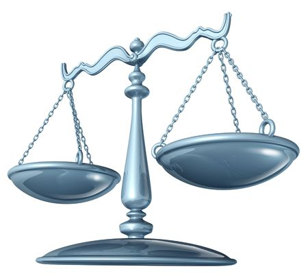 Scale of justice (clipping path included)