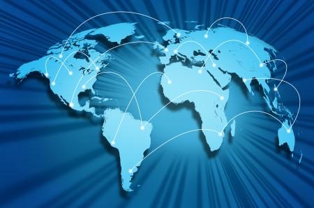 通信: 国際テクノロジー ・ プロバイダーとの通信ハブからソーシャル メディア サイトやポータル サイトを接続する世界中の世界的なインターネット接続。