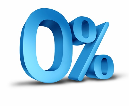 Zero percent interest rate for the months of the year representing mortgage and bank lending rate and dividend payments related to finances and the business world. photo